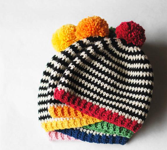 Pop Hat Crochet Pattern   Estallido de color, Colores brillantes y ...