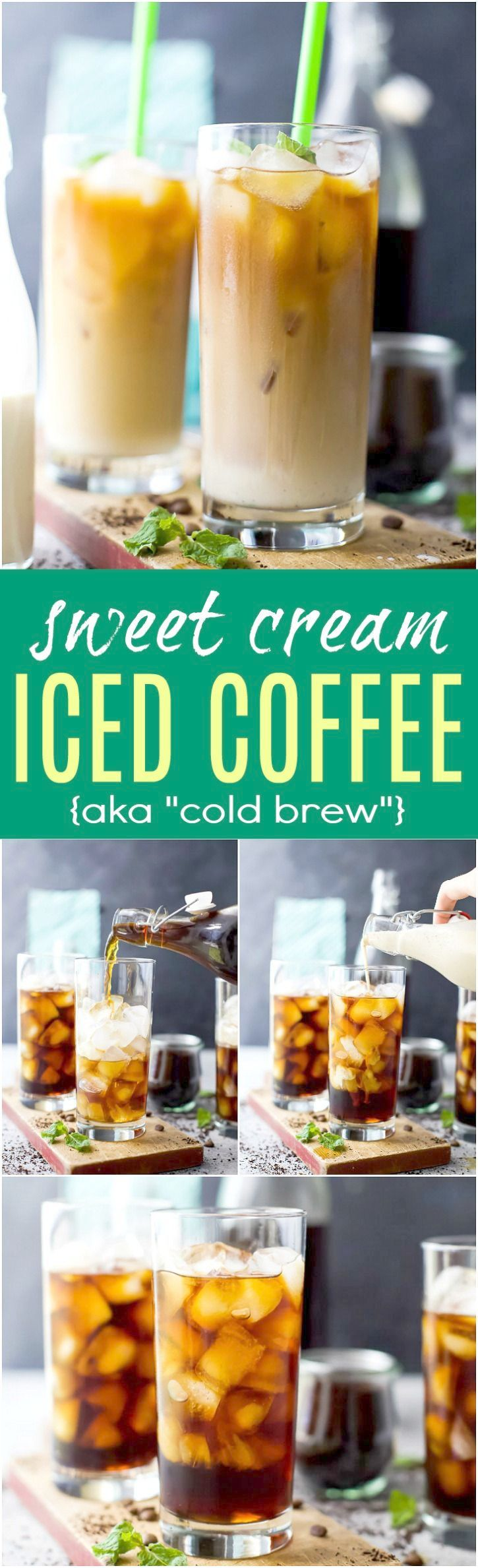 Iced Coffee Is So Easy To Make At Home And Even More Delicious Than You Can Buy At Starbucks Or Mc Iced Coffee At Home How To Make Ice Coffee Best