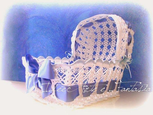 "IdeeArte e ... Fantasia: Culla portabomboniere modello ""Sweet dreams"""