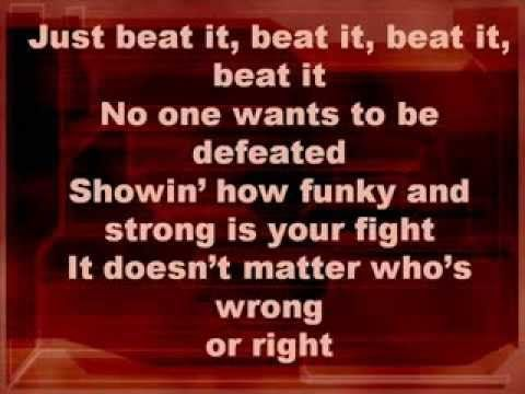 Michael Jackson Beat It Lyrics If You Like The Song