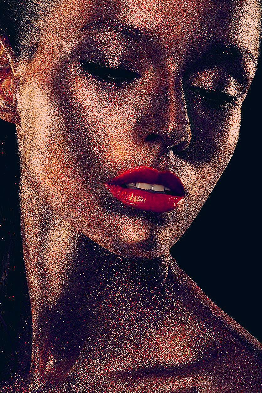 Glitzer-Make-up für Funkelmariechen