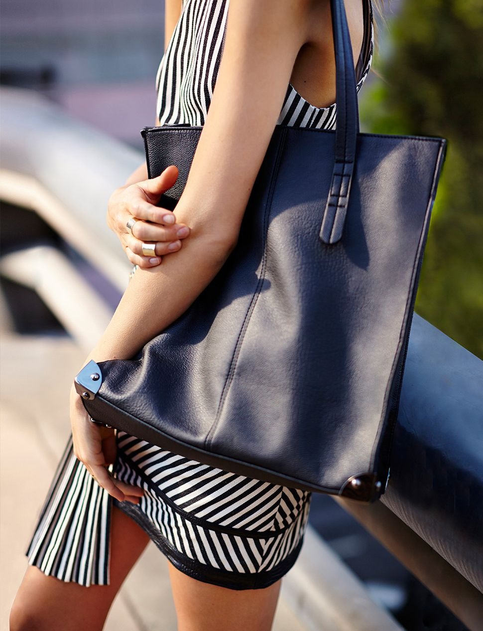 Tough Edge Tote, Stacked Rings - dress coming soon!