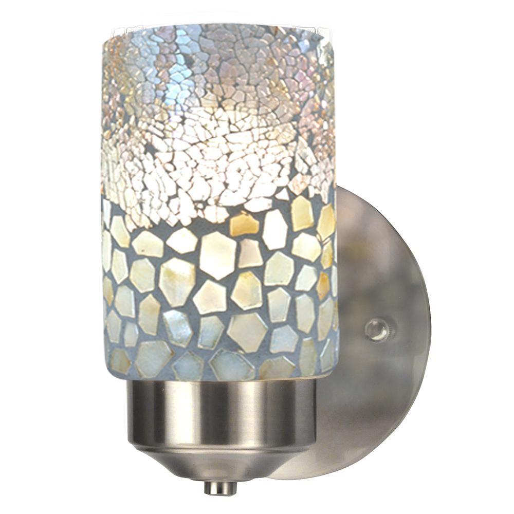 Cordelia Lighting 1 Light Brushed Nickel Wall Sconce Brushed Nickel Light Fixtures Brushed Nickel Lighting Wall Sconce Lighting
