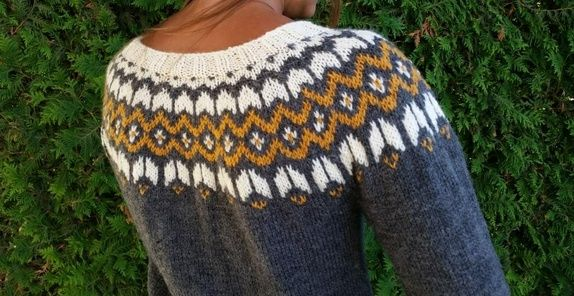 Islandsk genser (SM) | Strikkeklær, Strikking, Klær