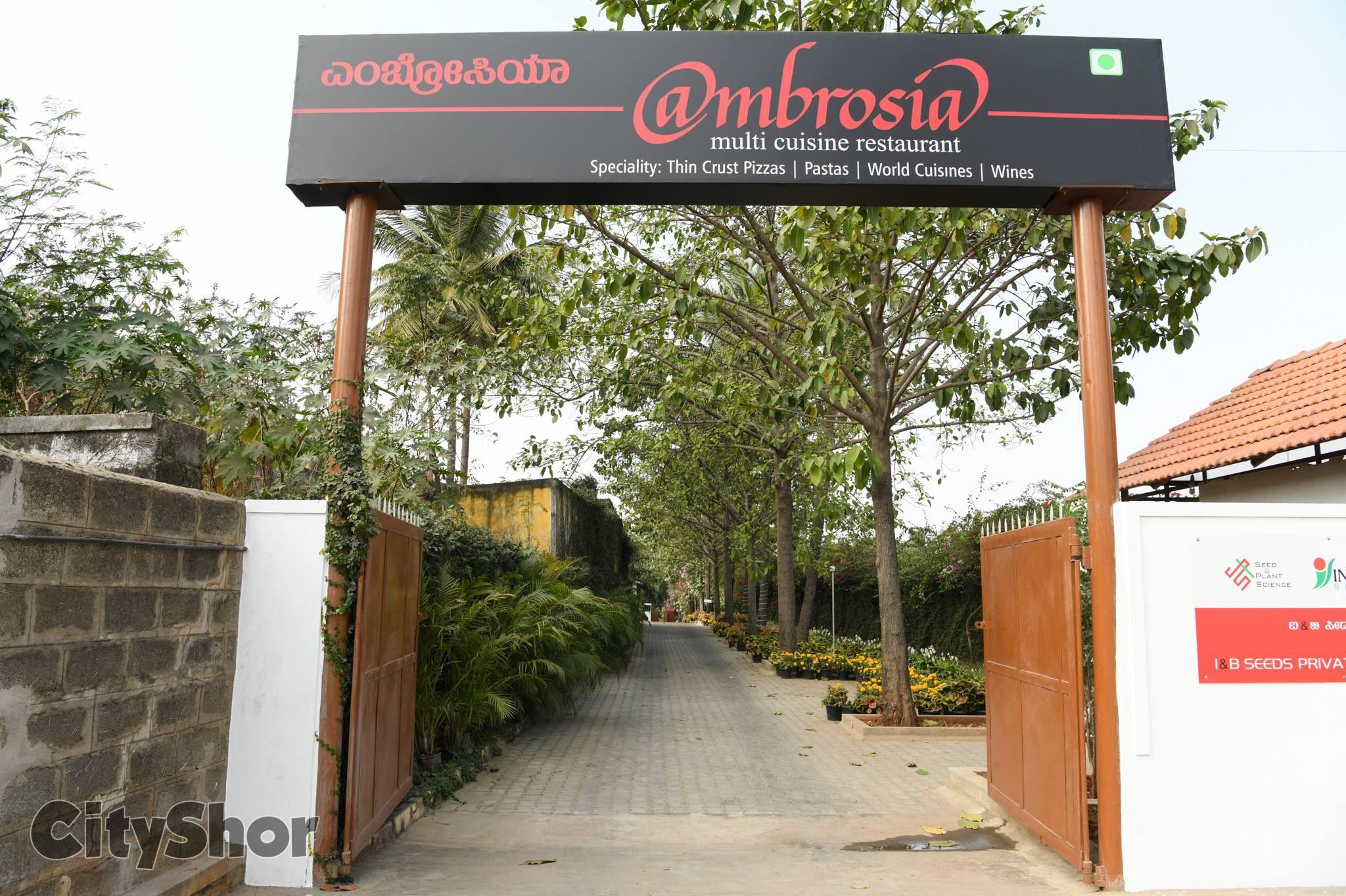 Ambrosia A Fine Dining Pure Vegetarian Restaurant In Rr Nagar Address 15 3a Ganakal Srinivaspura Nooj Vegetarian Restaurant Cafe Restaurant World Cuisine
