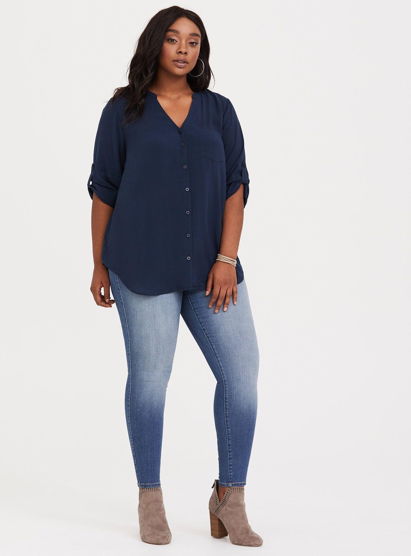 Harper Challis Blouse in 2020 Plus size fashion, Plus