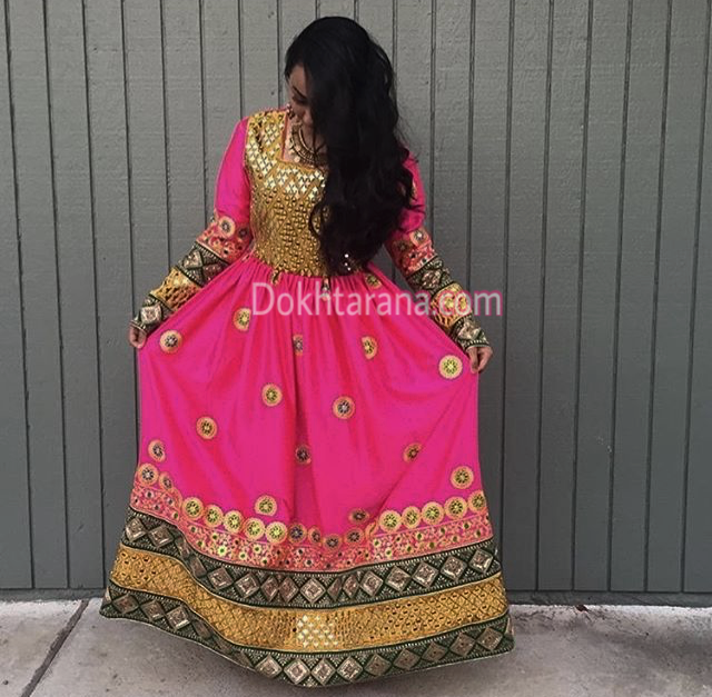 #afghan #dress #pink #style