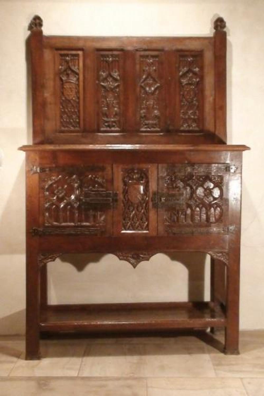 Antique Royal Medieval Dressoir Dresser