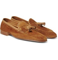 Portland Leather-trimmed Suede Tasselled Loafers Edward Green HBlE95kN