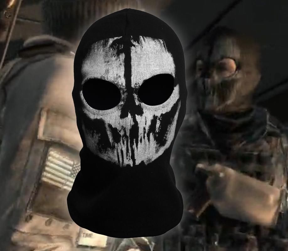 Airsoft Call Of Duty COD Balaclava Ghost Skull Face Mask ...