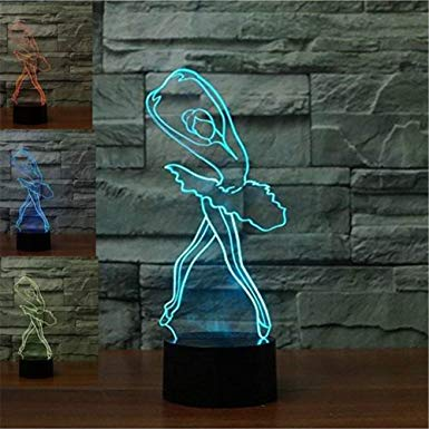 Ztop Abstractive 3d Optical Illusion Ballerina Ballet Girl Colorful Lighting Effect Touch Switch Usb Powered Led Decoration N 3d Illusion Lamp 3d Led Lamp Lamp