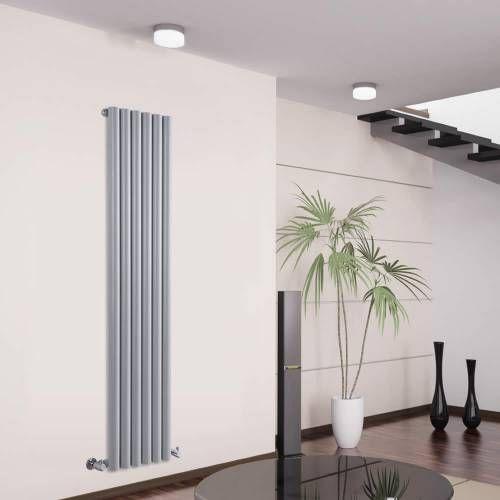 Design Heizkörper Vertikal Silber Heizung Wohnzimmer