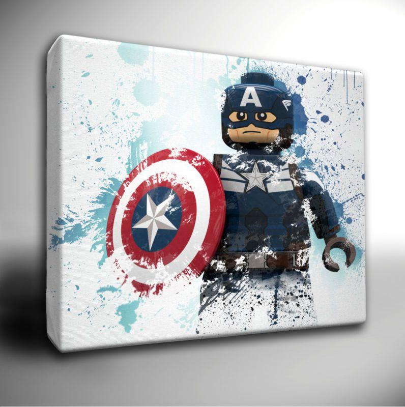 Choose your Marvel AVENGERS paint splatter CANVAS Wall Art Picture Prints