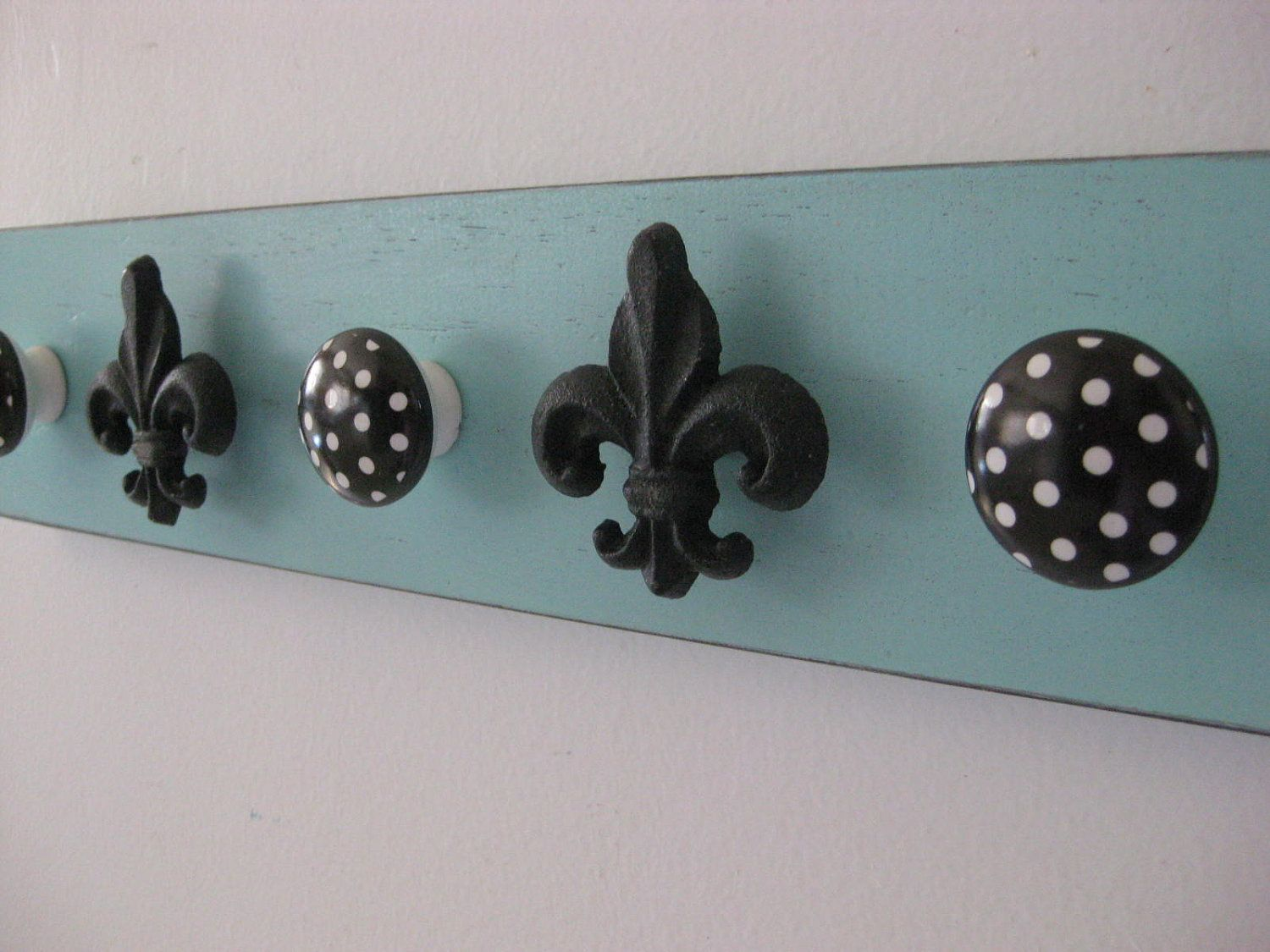 fleur de lis jewelry organizer robins egg blue by riricreations ...