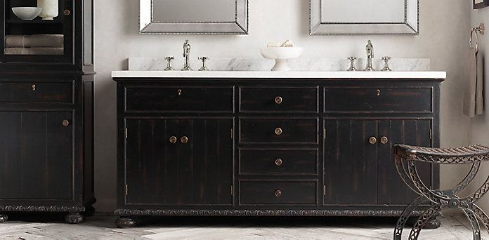 French Empire Bath Collection Antiqued Black