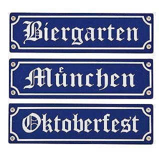 """Holzschilder """"Oktoberfest"""" 40 cm lang"""
