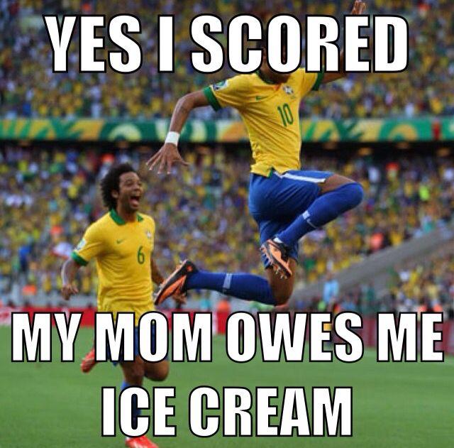 Haha! We owe our kid $20 a goal. He makes a good hourly ...