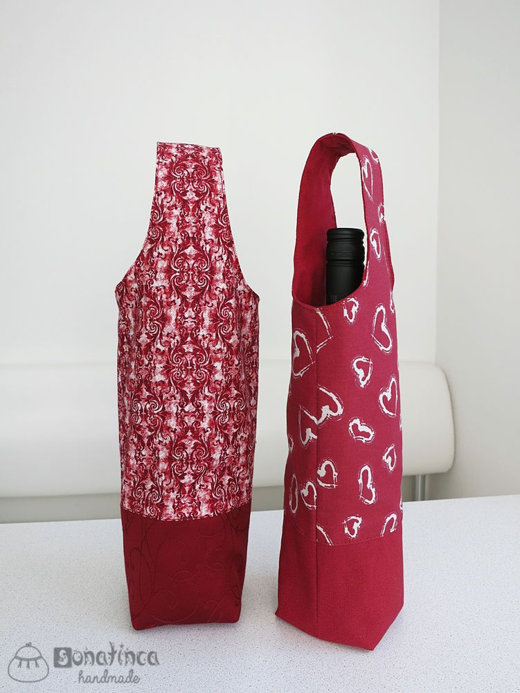 Tutorial On A Gift Bag For Bottles Fabric Wine Bottle Bag Fabric Wine Bags Wine Bag Pattern