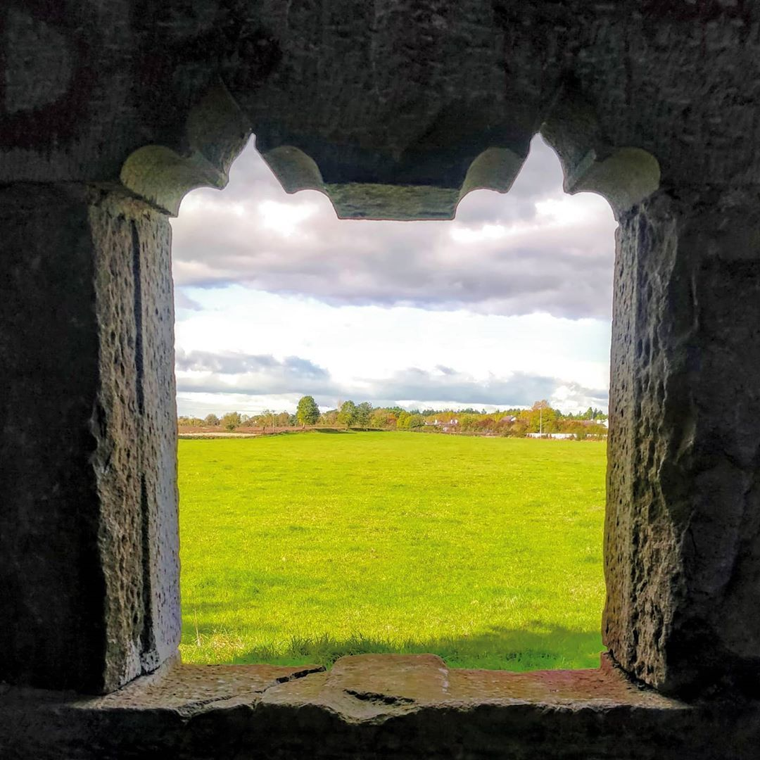 "Colm Boyle's Instagram photo: ""Slightly Hazy View  #srahcastle #ruin #towerhouse #gothicwindow #stonework  #lookingout #irishcountryside #niceview #hazy…"""