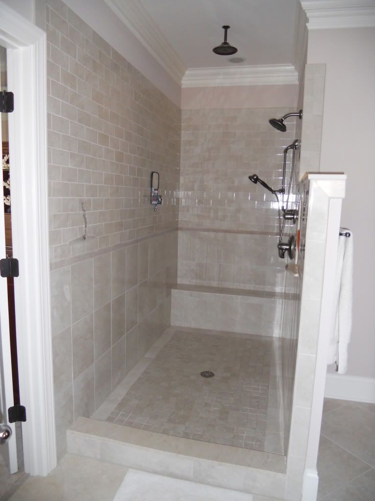 Small Bathroom No Shower Door the biggest thing is making sure your shower spray direction is