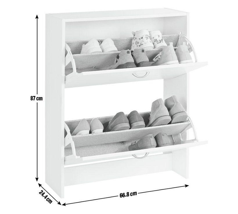 Buy Argos Home 2 Tier Shoe Cabinet White Shoe Storage Argos