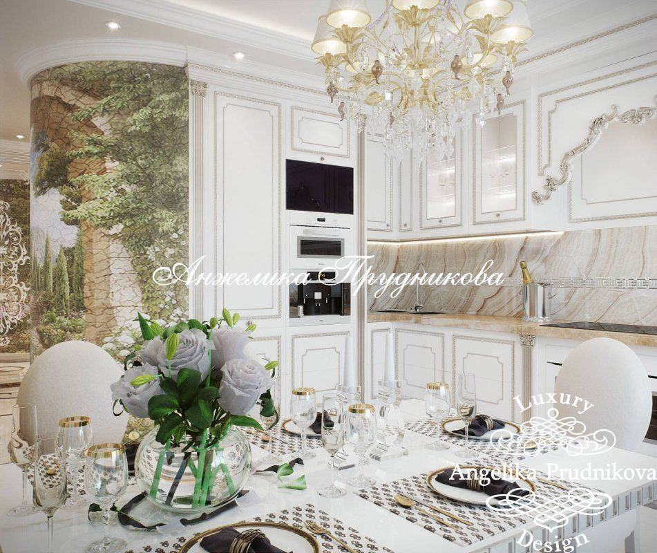 дизайн кухни классический стиль фото 7