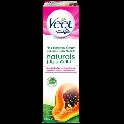 ڤيت ناتشورالز للبشرة العادية والجافة معزز بخلاصة البابايا الطبيعية 100 جربيه الآن Veet Papaya Extract Papaya