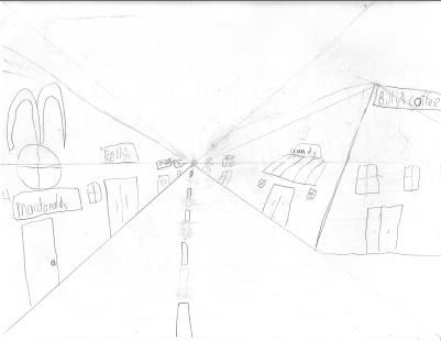 Art Projects for Kids: Perspective Pencil Drawing