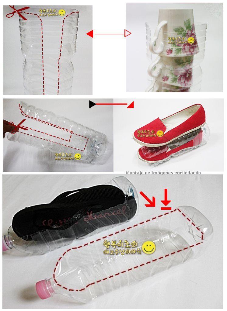 Como hacer un zapatero con una botella de plastico for Ideas para hacer un zapatero