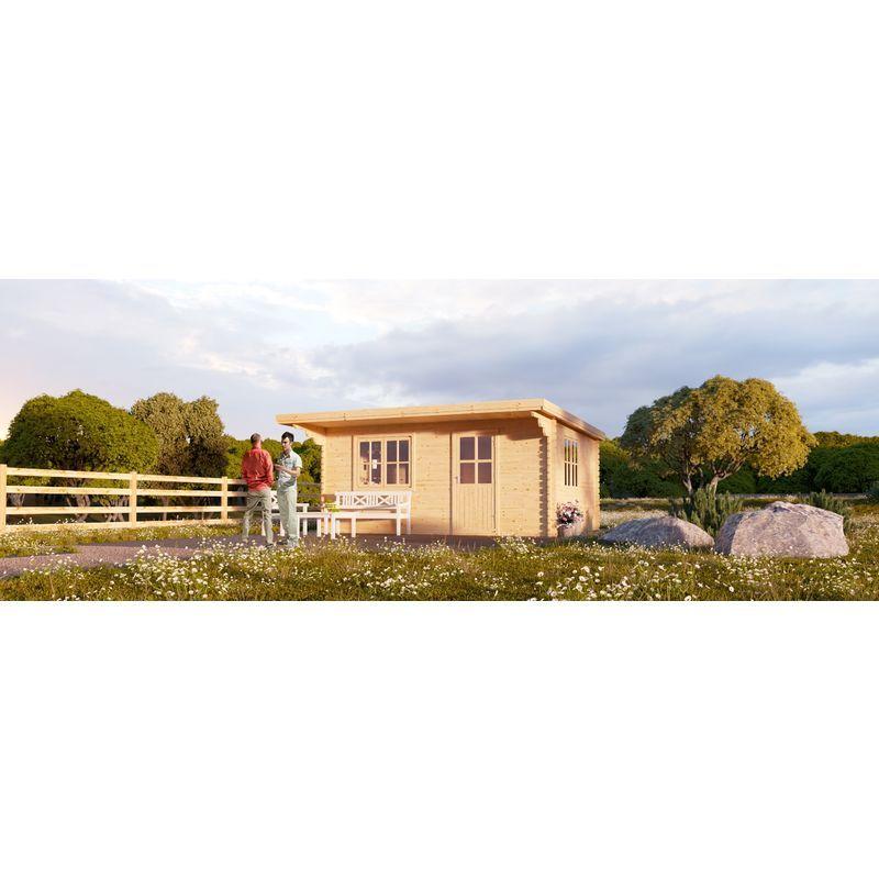 L Abri De Jardin Dreux A Toit Plat 12m 4x3 44mm Chaletdejardin House Styles Outdoor Structures Outdoor
