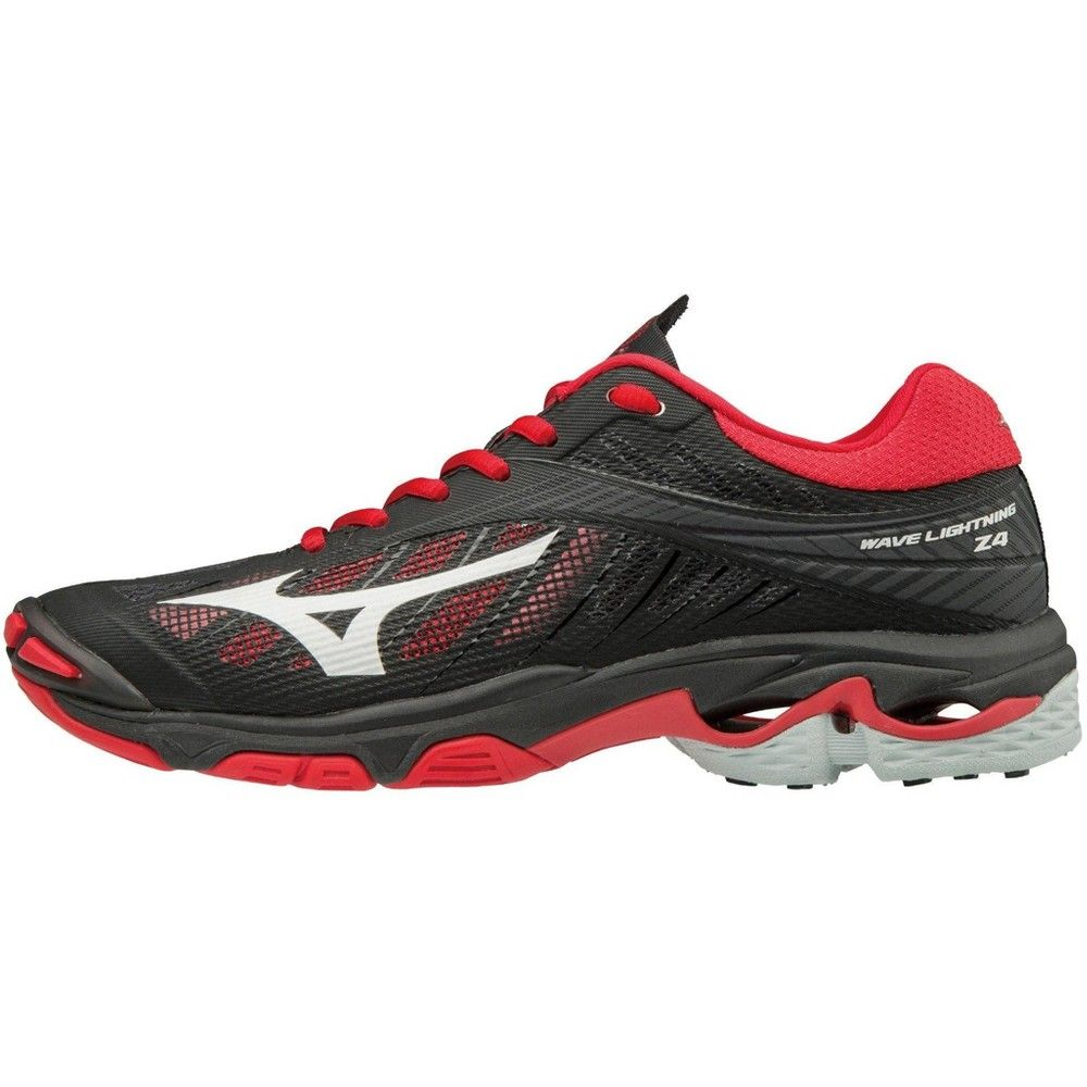 Mizuno Women S Wave Lightning Z4 Volleyball Shoes Womens Size Volleyball Shoes Footwear Design Women Black And Red