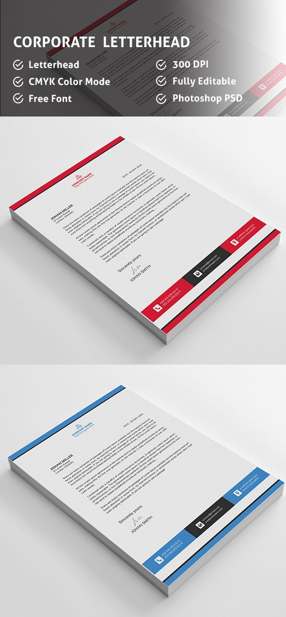 corporate psd letterhead Letterhead Pinterest Letterhead - letterhead samples word
