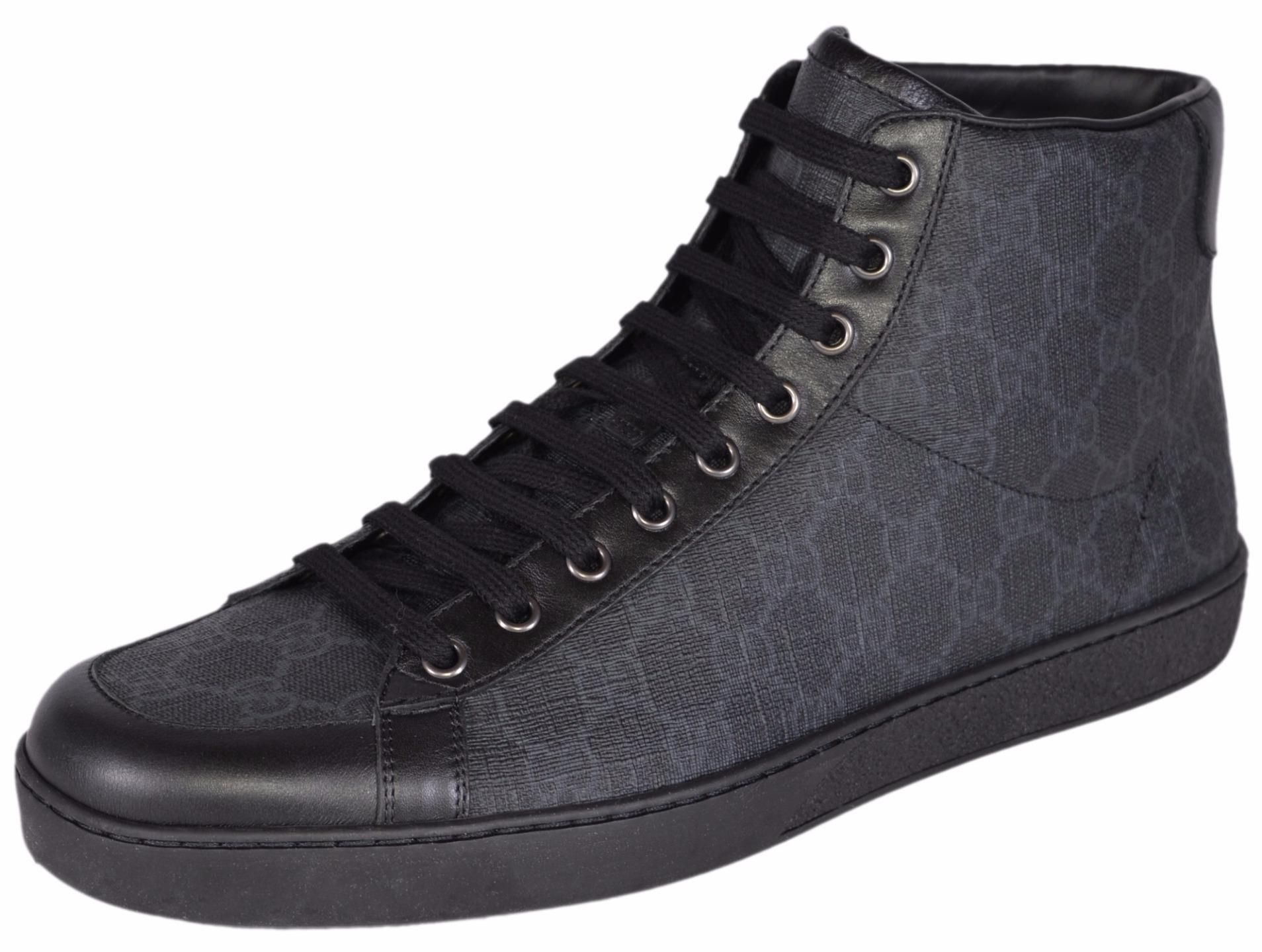37447b264 Gucci New Men's Gg Supreme Canvas Hysteria Crest High Top 10.5g Black  Athletic Shoes. Get the must-have athletic shoes of this season!