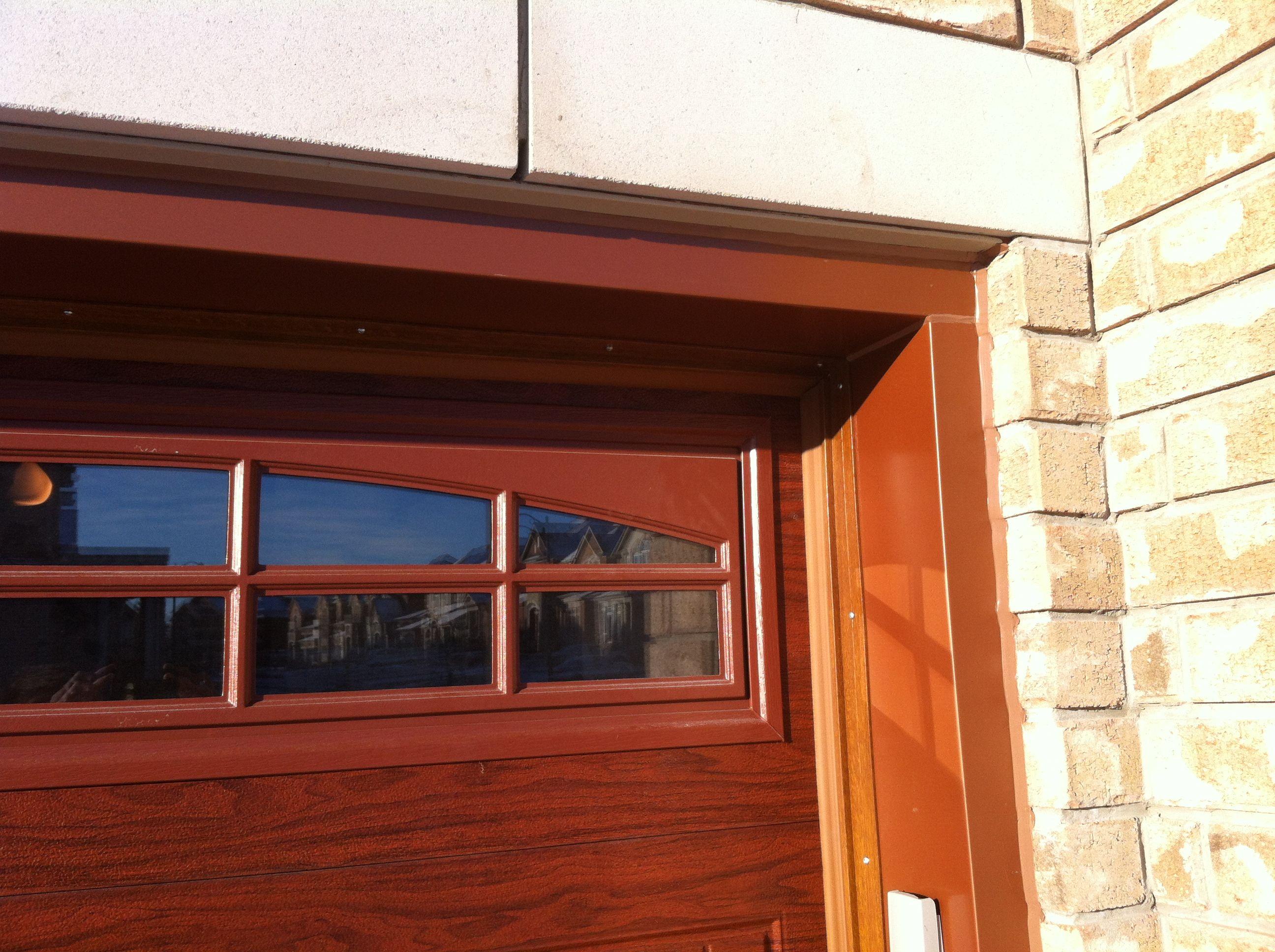 Garage door capping caulking custom color to match garage door & Garage door capping caulking custom color to match garage door ...