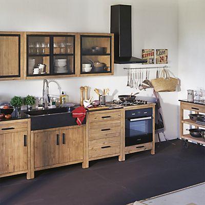 Lys Ensemble De Meubles De Cuisine En Acacia Idées Pour La - Ensemble meuble cuisine pour idees de deco de cuisine