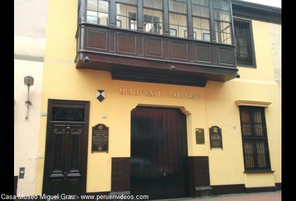 Conozca la Casa Museo de Miguel Grau en el centro de Lima.  Piezas y documentos importantes de la Guerra de Pacífico son expuestas en el recinto que una vez fue el hogar del héroe y combatiente Miguel Grau Seminario, el cual mantiene hoy en día su estructura original.