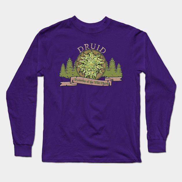 D&d Tee - Druid Long Sleeve T-Shirt