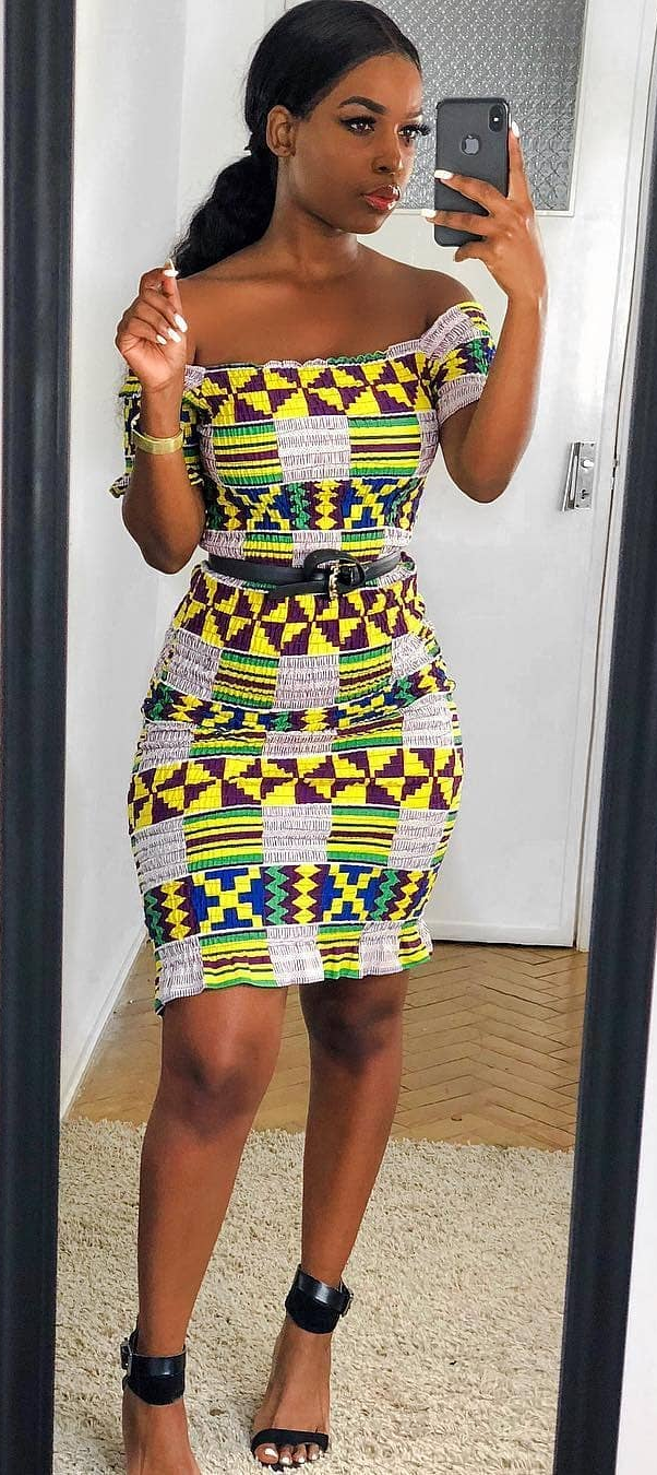 kente modern dress, African fashion, Ankara, kitenge ...