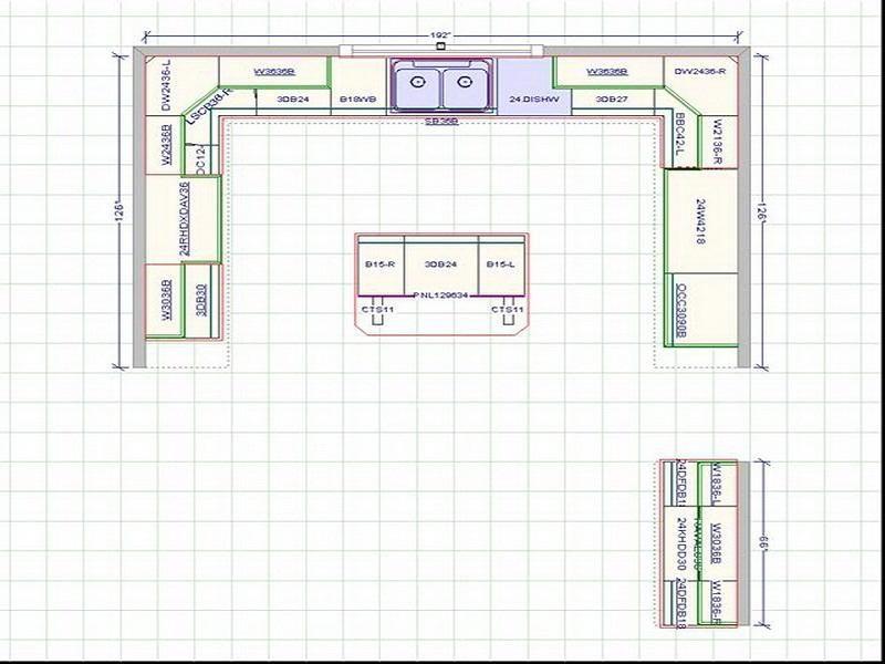 Küchenschrank Layout Design die Küche wird von einem durch Tasten ...