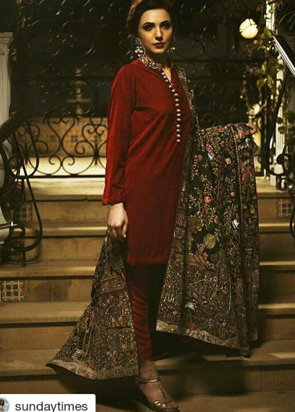d3be75e8b3 NadiaAzwer Velvet Pakistani Dress Design, Pakistani Couture, Pakistani  Outfits, Indian Couture, Indian