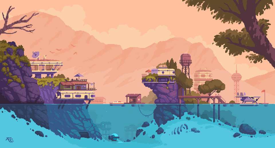 Romain Courtois U Rcmedy Reddit Pixel Art Landscape Cool Pixel Art Pixel Art