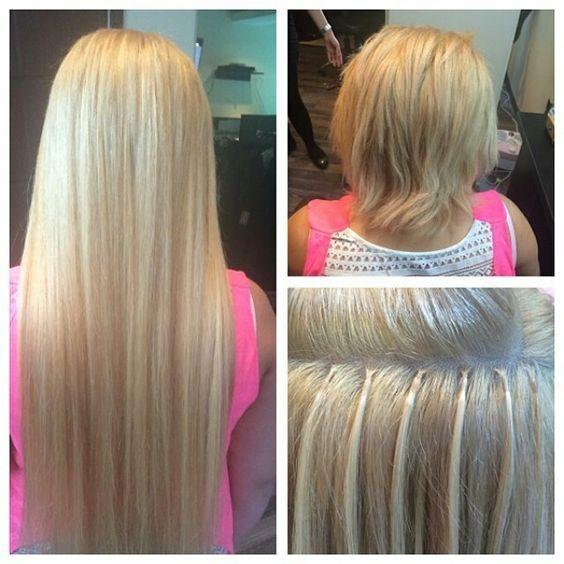 22inch Micro Loop Hair Extensions Real Human Hair Extensions 18613