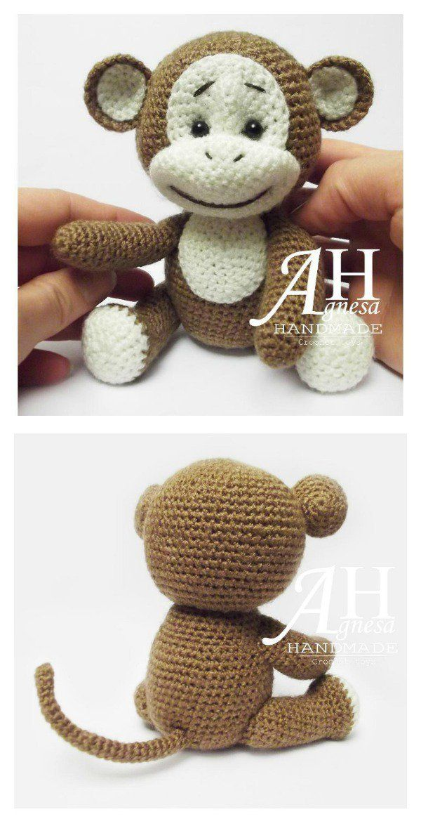 Free Monkey Amigurumi Crochet Patterns #amigurumitutorial