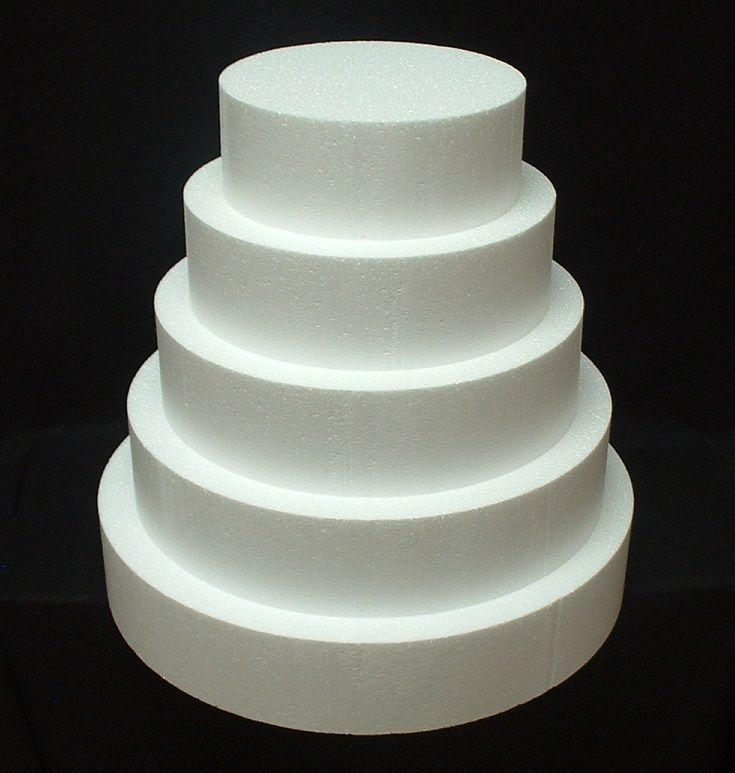 5 pc cake dummy set 4 thick eps foam round 68101214