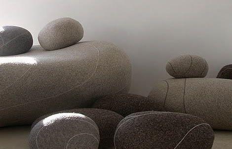 Stephanie Marin Living Stones Cobblestone Sofa