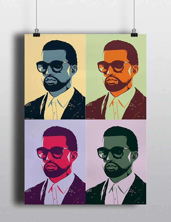 Kanye West Greatest Hits Pop Art Poster Collection On Behance Pop Art Posters Poster Art Art