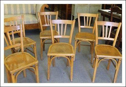 Sedie Industriali ~ Gruppo n. 6 sedie da bistrot francesi anni 40 seggiole industriali