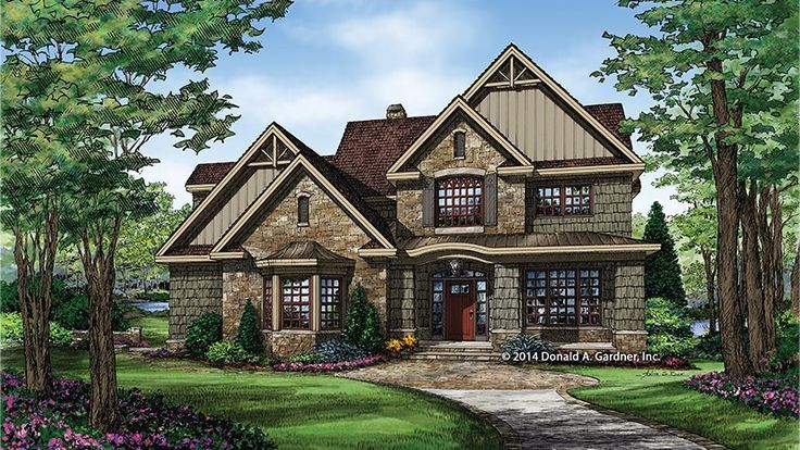 Home Plan HOMEPW77457 - 2876 Square Foot, 4 Bedroom 3 Bathroom Craftsman Home with 2 Garage Bays | Homeplans.com
