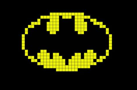 Batman Logo Pixel Art Pixel Art Art Logo Batman Logo