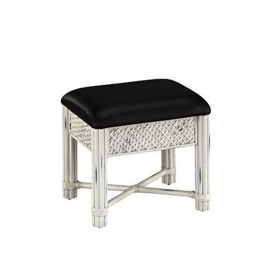 black and white entryway bench - Google Search | Vanity ...